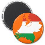 Netherlands Dutch flag map Refrigerator Magnet