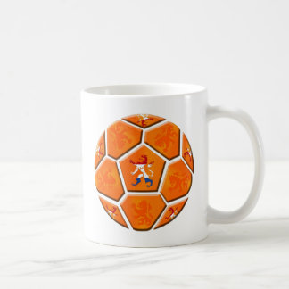 Netherlands Dutch flag Soccer ball gifts Basic White Mug
