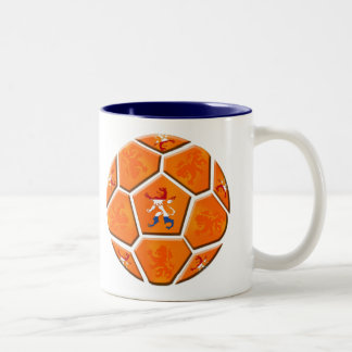 Netherlands Dutch flag Soccer ball gifts Two-Tone Coffee Mug