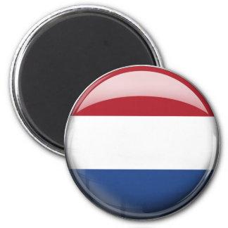 Netherlands Flag 6 Cm Round Magnet