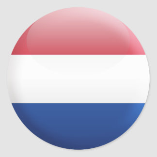 Netherlands Flag Classic Round Sticker