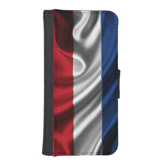 Netherlands Flag Fabric iPhone SE/5/5s Wallet Case