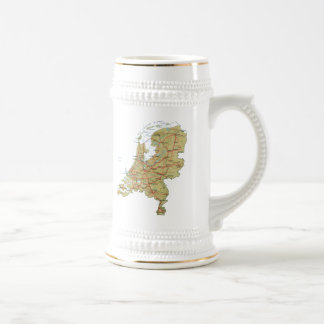 Netherlands Flag ~ Map Mug
