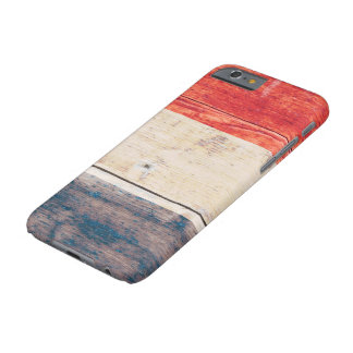 Netherlands Flag on Wood Barely There iPhone 6 Case