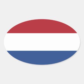 Netherlands Flag Oval Sticker