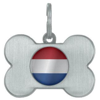 Netherlands flag pet name tag