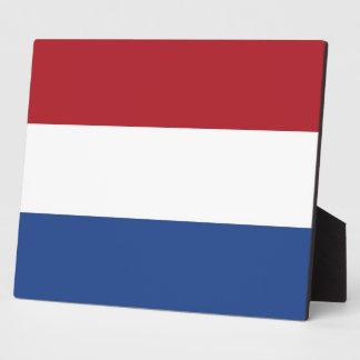 Netherlands Flag Plaque
