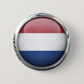 Netherlands Flag Round Glass Ball 6 Cm Round Badge