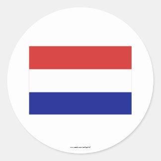 Netherlands Flag Round Sticker