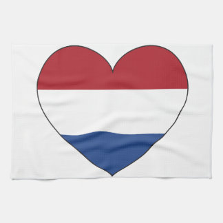 Netherlands Flag Simple Tea Towel