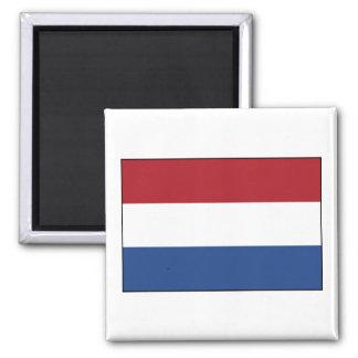 Netherlands Flag Square Magnet