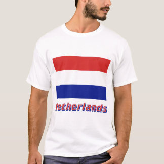 Netherlands Flag with Name T-Shirt