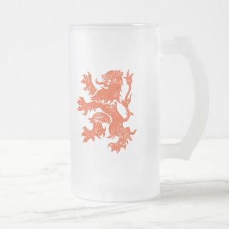 Netherlands Frosted Glass Beer Mug