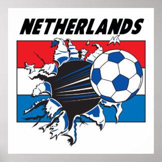 Netherlands Futbol Poster