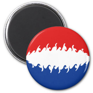Netherlands Gnarly Flag 6 Cm Round Magnet
