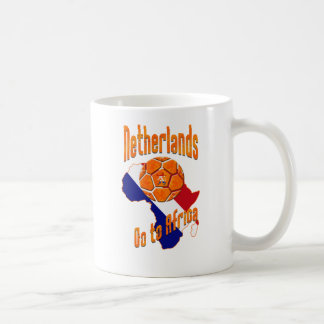 Netherlands Go to Africa Soccer fans ball gifts Basic White Mug