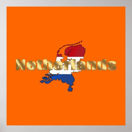 Netherlands (Holland) Dutch flag log gear Poster