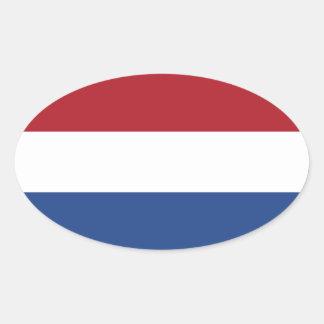 Netherlands/Holland/Dutch/Hollander Flag Oval Sticker