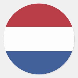 Netherlands/Holland/Dutch/Hollander Flag Round Sticker
