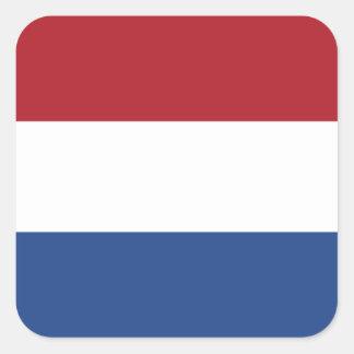 Netherlands/Holland/Dutch/Hollander Flag Square Sticker