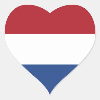 Netherlands/Holland/Dutch/Hollander Flag Heart Sticker