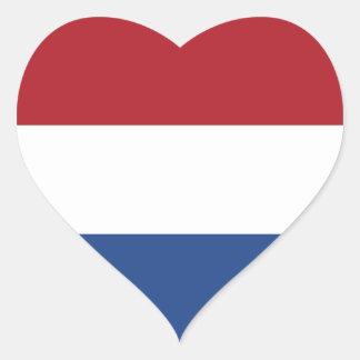 Netherlands/Holland/Dutch/Hollander Heart Flag Heart Sticker