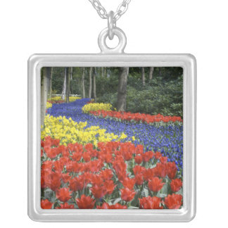 Netherlands, Holland, Lisse, Keukenhof Gardens Silver Plated Necklace