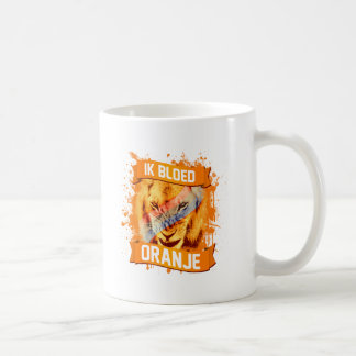 "Netherlands ""I Bleed Orange"" in Dutch Basic White Mug"