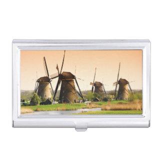 Netherlands, Kinderdijk. Windmills next to Business Card Holder