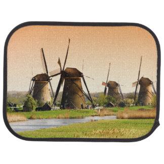 Netherlands, Kinderdijk. Windmills next to Floor Mat