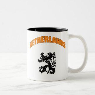 Netherlands Lion 2010 football Dutch Leeuw Gifts Two-Tone Coffee Mug