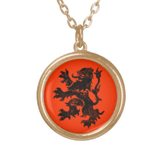 Netherlands Lion Gold Plated Necklace