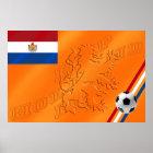 Netherlands Lion Hup Holland Hup flag 2014 Soccer Poster