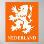 Netherlands Lion Rampant Poster