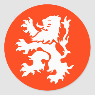 Netherlands Lion Round Sticker