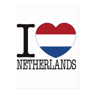 Netherlands Love v2 Postcard