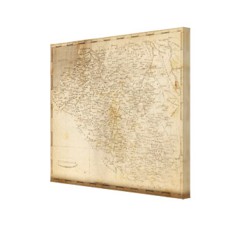 Netherlands Map by Arrowsmith Canvas Print