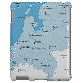 Netherlands Map iPad Barely Case