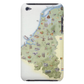 Netherlands, map showing distinguishing features barely there iPod cases