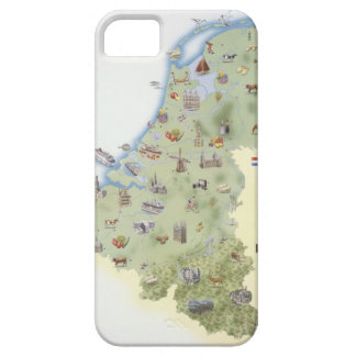 Netherlands, map showing distinguishing features iPhone 5 cases
