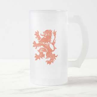 Netherlands 16 Oz Frosted Glass Beer Mug