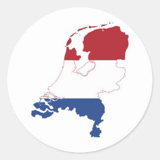 Netherlands NL Classic Round Sticker
