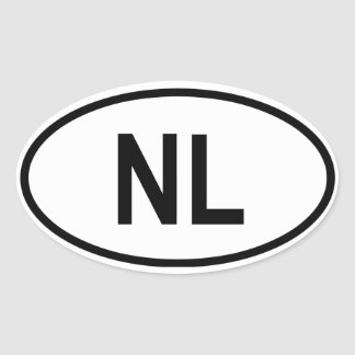 "Netherlands ""NL"" Oval Sticker"