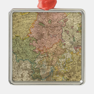 Netherlands or Low Countries Silver-Colored Square Decoration