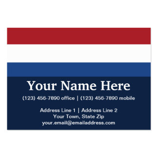 Netherlands Plain Flag Pack Of Chubby Business Cards
