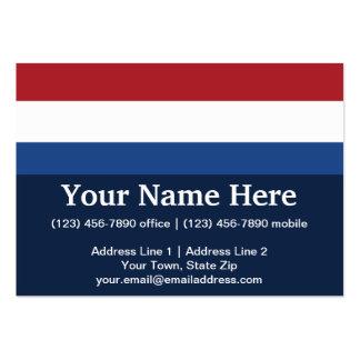 Netherlands Plain Flag Business Cards