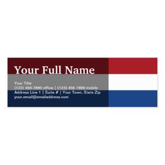 Netherlands Plain Flag Business Card