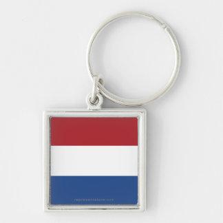Netherlands Plain Flag Keychains
