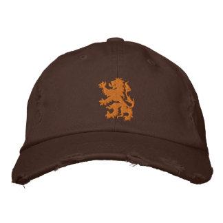 Netherlands Rampant Lion Distressed cap Baseball Cap