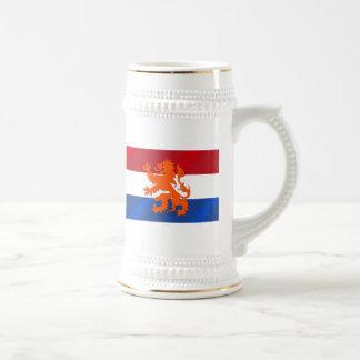 Netherlands Rampant lion Netherlands flag Beer Stein